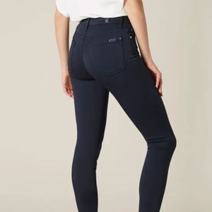 7 FOR ALL MANKIND HR SKINNY NAVY DOUBLE KNIT SZ 30